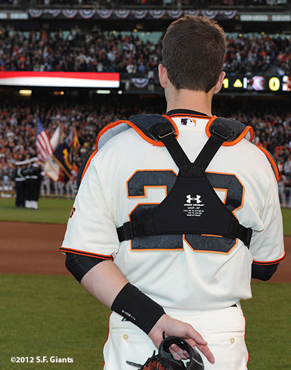 San Francisco Giants, S.F. Giants, photo, 2012, Postseason, Buster Posey