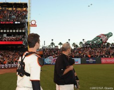 San Francisco Giants, S.F. Giants, photo, 2012, National League Division Series, Buster Posey, Bill Hayes