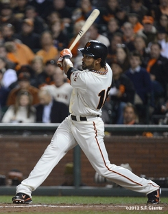 sf giants, san francisco giants, photo, 2012, nlds, angel pagan