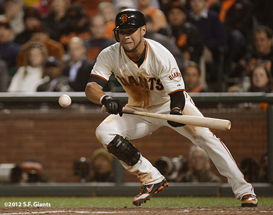 sf giants, san francisco giants, photo, 10/6/2012, nlds game 1, gregor blanco