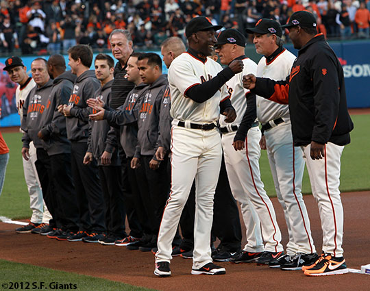 San Francisco Giants, S.F. Giants, photo, 2012, National League Division Series, Roberto Kelly