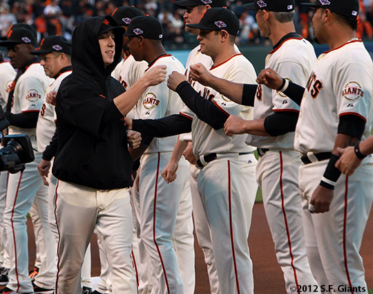 San Francisco Giants, S.F. Giants, photo, 2012, National League Division Series, Tim Lincecum