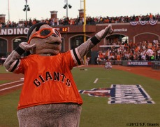 San Francisco Giants, S.F. Giants, photo, 2012, National League Division Series, Lou Seal