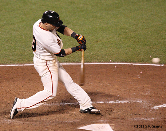 sf giants, san francisco giants, photo, 10/6/2012, nlds game 1, marco scutaro