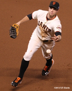 sf giants, san francisco giants, photo, 10/6/2012, nlds game 1, brandon belt