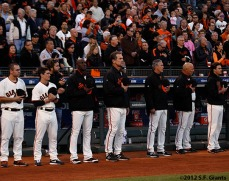 San Francisco Giants, S.F. Giants, photo, 2012, Postseason, National Anthem