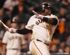 sf gaints, san francisoc giants, photo, 2012, nlds game 2, 10/7/2012, pablo sandoval