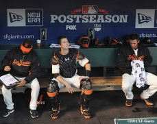 San Francisco Giants, S.F. Giants, photo, 2012, Postseason, Dave Righetti, Buster Posey, Madison Bumgarner