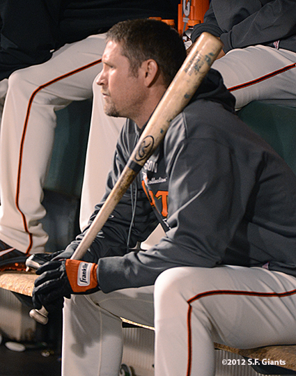 San Francisco Giants, S.F. Giants, photo, 2012, Postseason, Aubrey Huff