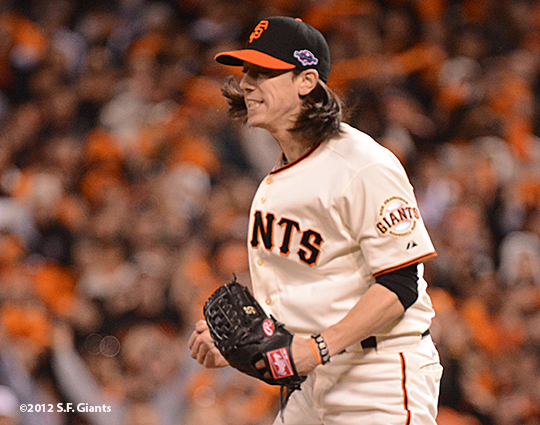 sf gaints, san francisoc giants, photo, 2012, nlds game 2, 10/7/2012, tim lincecum