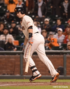 sf gaints, san francisoc giants, photo, 2012, nlds game 2, 10/7/2012, buster posey