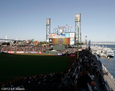 San Francisco Giants, S.F. Giants, photo, 2012, Postseason, Scoreboard