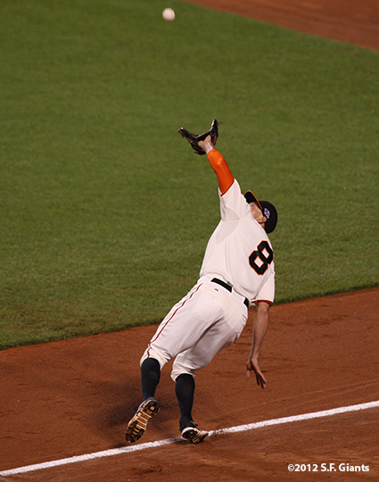 sf gaints, san francisoc giants, photo, 2012, nlds game 2, 10/7/2012, hunter pence