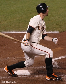 sf gaints, san francisoc giants, photo, 2012, nlds game 2, 10/7/2012, brandon belt