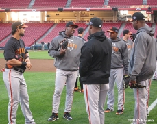 sf giants, san francisco giants, photo, 2012, nlds, work out day, bambam meulens, angel pagan