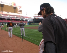 sf giants, san francisco giants, photo, 2012, nlds, work out day, brandon crawford