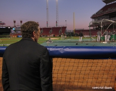sf giants, san francisco giants, photo, 2012, nlds, work out day, larry baer