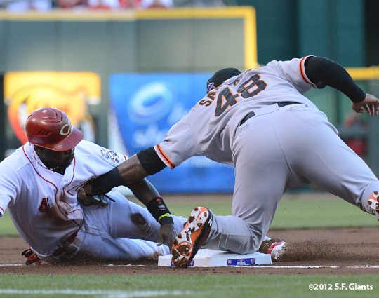 sf giants, san francisco giants, photo, 10/9/2012, nlds game 3, pablo sandoval