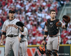 sf giants, san francisco giants, photo, nlds, 2012, ryan vogelsgong, buster posey