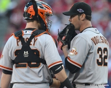 sf giants, san francisco giants, photo, 10/9/2012, nlds game 3, buster posey, ryan vogelsong