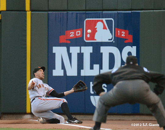 sf giants, san francisco giants, photo, 10/9/2012, nlds game 3, hunter pence