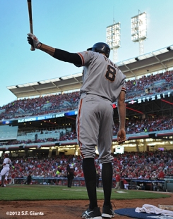 sf giants, san francisco giants, photo, nlds, 2012, hunter pence