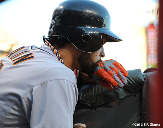sf giants, san francisco giants, photo, nlds, 2012, angel pagan