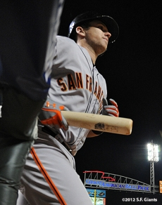sf giants, san francisco giants, photo, 10/9/2012, nlds game 3, buster posey
