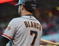 sf giants, san francisco giants, photo, 10/9/2012, nlds game 3, gregor blanco
