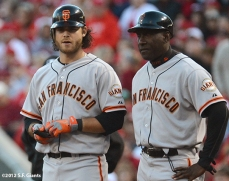 sf giants, san francisco giants, photo, 10/9/2012, nlds game 3, brandon crawford, roberto Kelly