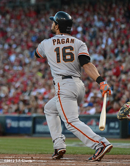 sf giants, san francisco giants, photo, 10/9/2012, nlds game 3, angel pagan