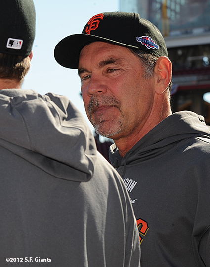 sf giants, san francisco giants, photo, nlds, 2012, bruce bochy