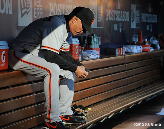 sf giants, san francisco giants, photo, nlds, 2012, tim flannery