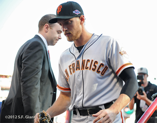 sf giants, nlds, san francisco giants, photo, hunter pence, preacher pence, 2012,
