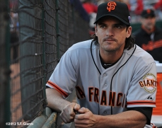 sf giants, san francisco giants, photo, nlds, 2012, ryan theriot