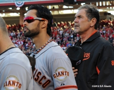 sf giants, san francisco giants, photo, 10/9/2012, nlds game 3, angel pagan, bruce bochy