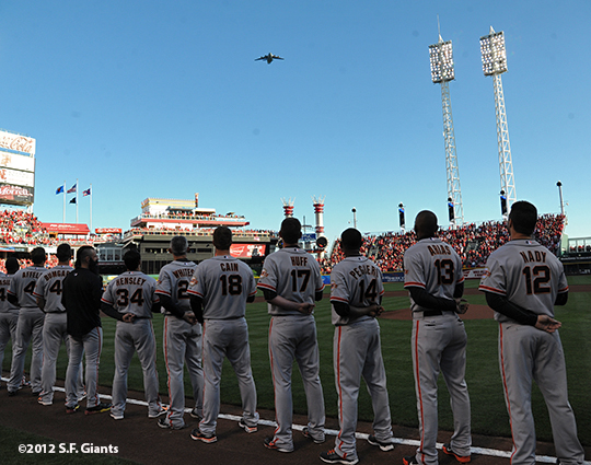 sf giants, san francisco giants, photo, 10/9/2012, nlds game 3, team