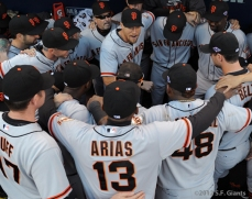 sf giants, nlds, san francisco giants, photo, hunter pence, preacher pence, 2012, team