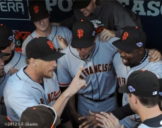 sf giants, nlds, san francisco giants, photo, hunter pence, preacher pence, 2012, guillermo mota, matt cain, javier lopez, barry zito