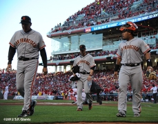 sf giants, san francisco giants, photo, 10/9/2012, nlds game 3, dave righetti, ryan vogelsong, hector sanchez