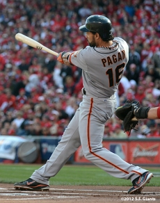 sf giants, san francisco giants, photo, 10/10/2012, nlds game 4, angel pagan