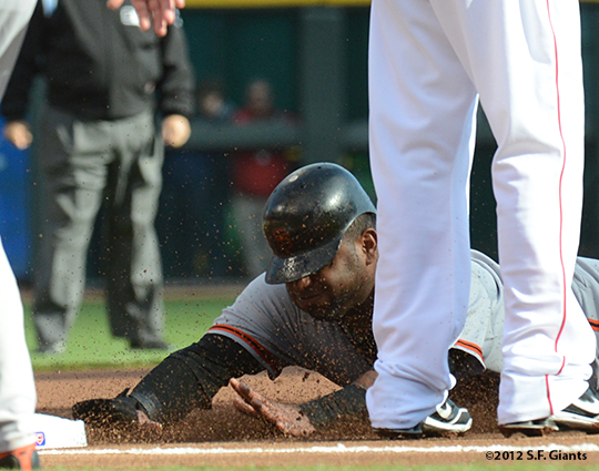 sf giants, san francisco giants, photo, nlds, 2012, pablo sandoval