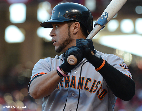 sf giants, san francisco giants, photo, nlds, 2012, gregor blanco