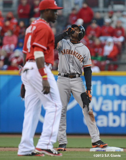 sf giants, san francisco giants, photo, 10/10/2012, nlds game 4, joaquin arias