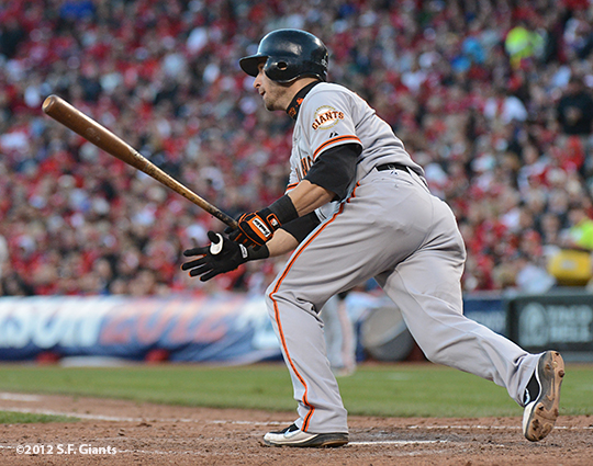 sf giants, san francisco giants, photo, 10/10/2012, nlds game 4, MARCO SCUATRO