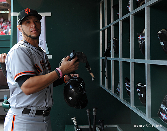 sf giants, san francisco giants, photo, 10/10/2012, nlds game 4, gregor blanco