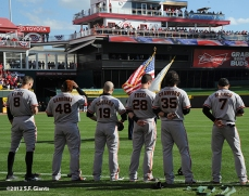 sf giants, san francisco giants, photo, nlds, 2012, Hunter Pence, Pablo Sandoval, Marco Scutaro, Buster Posey, Brandon Crawford, Gregor Blanco