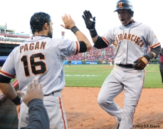 sf giants, san francisco giants, photo, 10/10/2012, nlds game 4, angel pagan, marcos cutaro