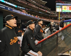 sf giants, san francisco giants, photo, nlds, 2012, dave righetti, ron wotus, bruce bochy