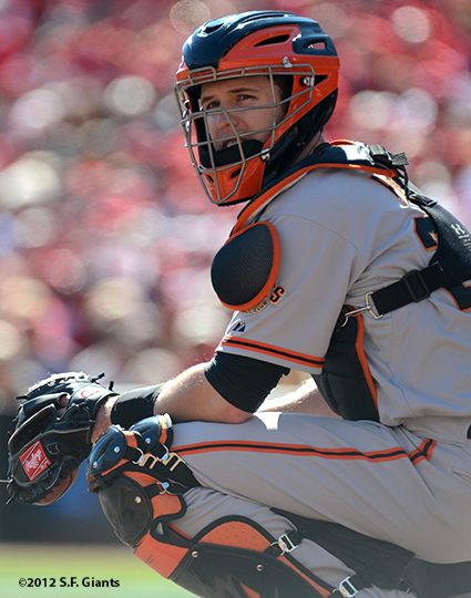 sf giants, san francisco giants, photo, nlds, 2012, buster posey